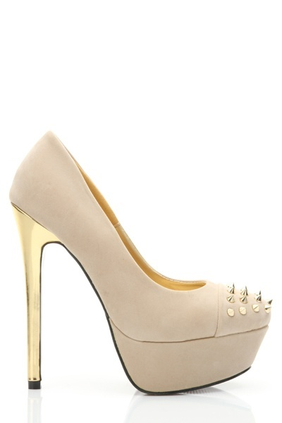 Stud Embellished Toe Platform Shoes
