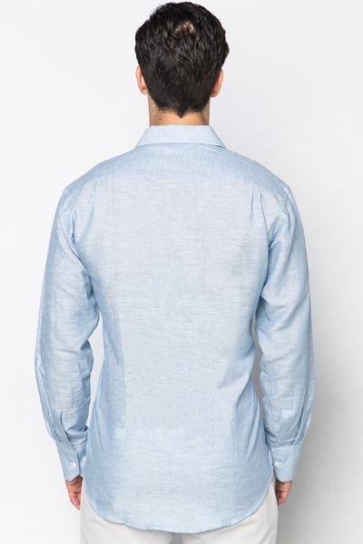 Pocket Front Light Blue Shirt
