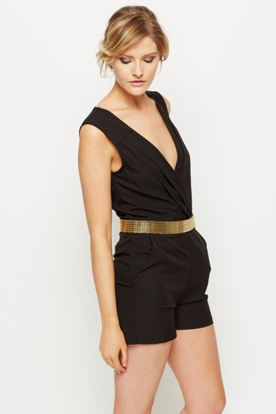 Gold Trim Playsuit