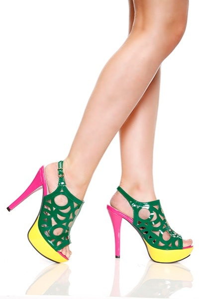 Cut Out Design Patent PVC Sandals