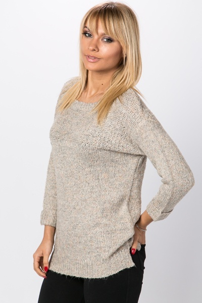 Contrast Knit Everyday Pullover