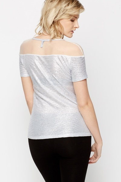 Mesh Insert Metallic Top