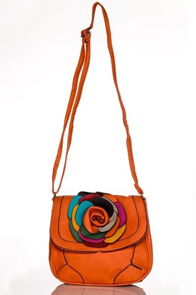 Multi Flower Embellished Crossbody Bag - Just U00a35
