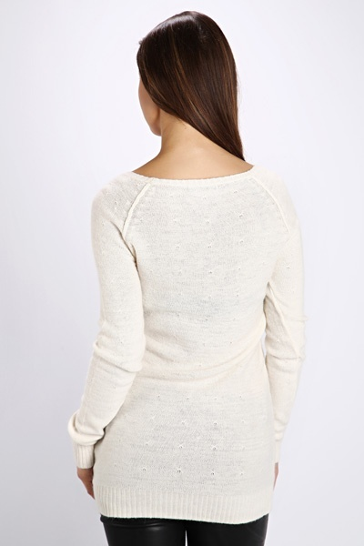 Patterned Knit Long Jumper