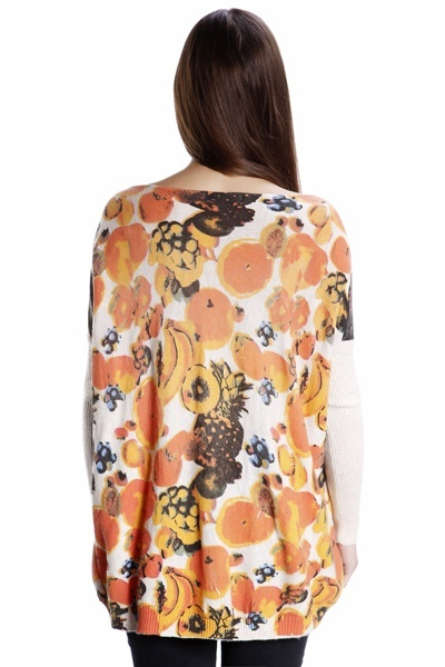 Fruit Print Knit Jumper Top