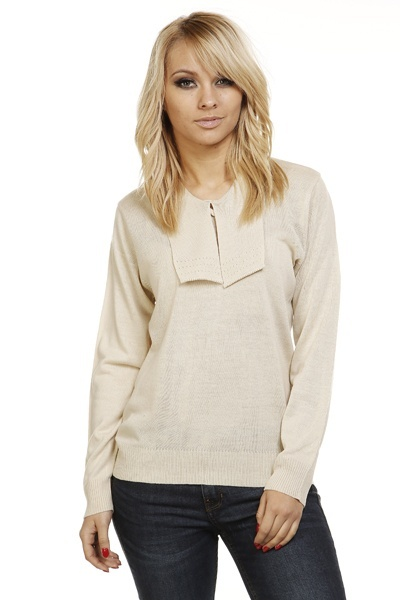 Perforated Collar Pullover