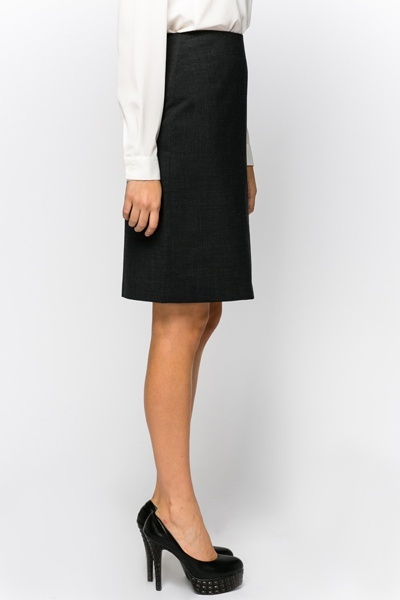 Tailored Charcoal Skirt
