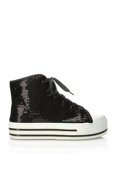 High Flatform Sequined Trainers