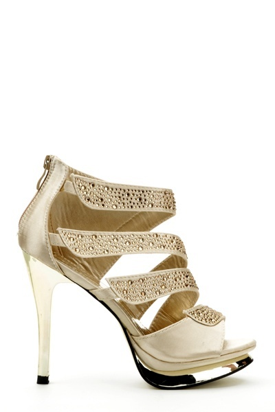 Diamante Strap Platform Shoes