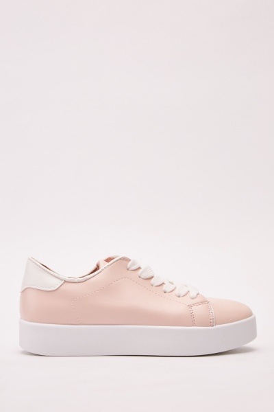 Lace Up Platform Trainers