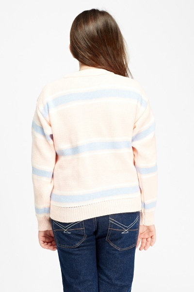 Knitted Striped Kids Jumper