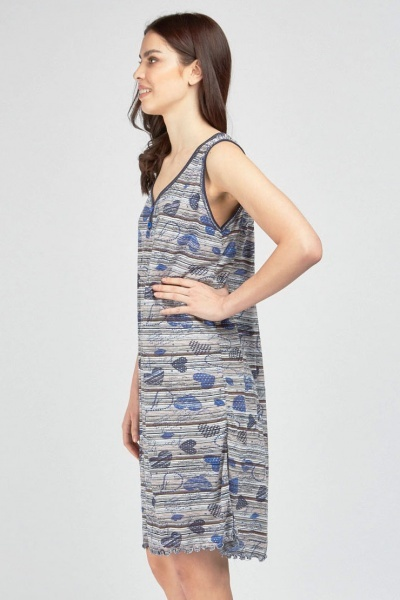 Sleeveless Mix Print Casual Dress