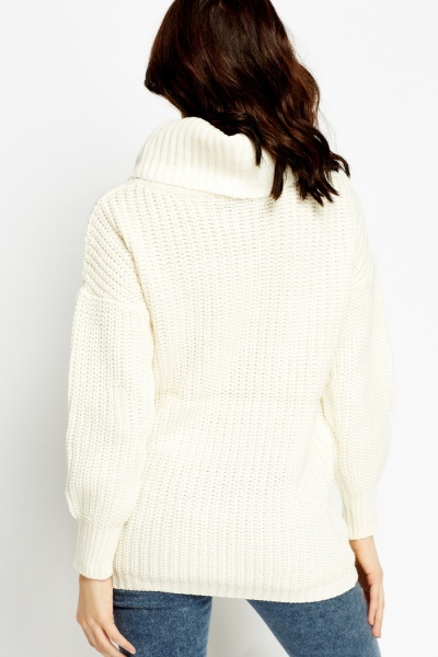 Roll Neck Chunky Jumper