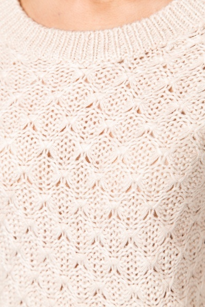 Metallic Fibre Patterned Knit Jumper