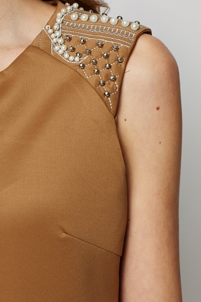 Embellished Shoulder Bodycon Dress