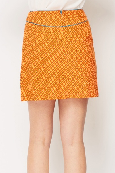 Asymmetric Flared Mini Skirt
