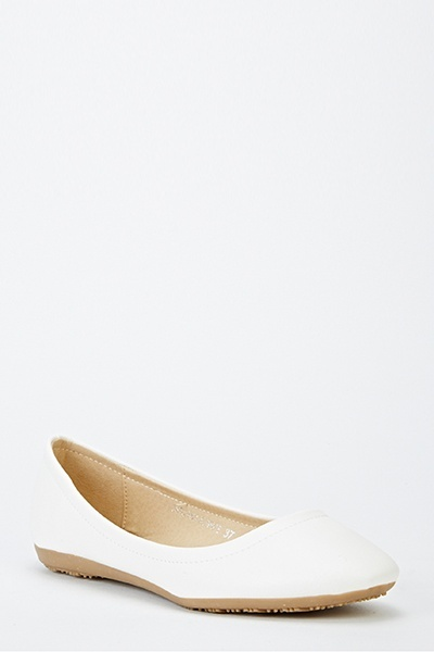 Faux Leather Slip Ons