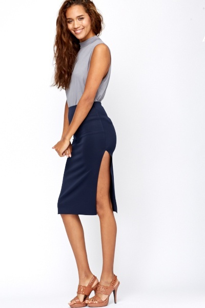 Bodycon Side Slit Skirt