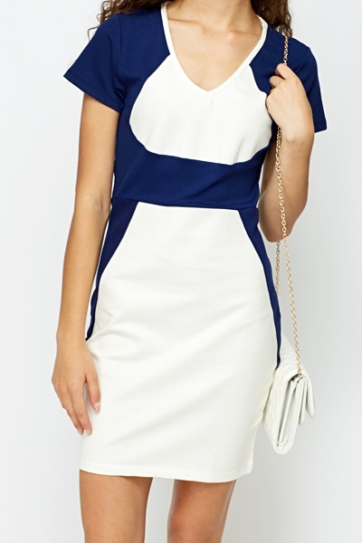 Cotton Blend Bodycon Dress