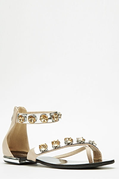 Stone Embellished Sandals