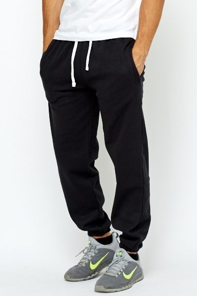 Thick Fleece Lined Tracksuit Bottoms