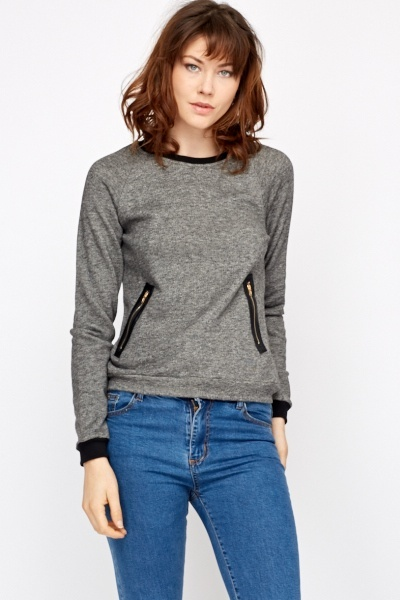Zip Side Detail Sweatshirt
