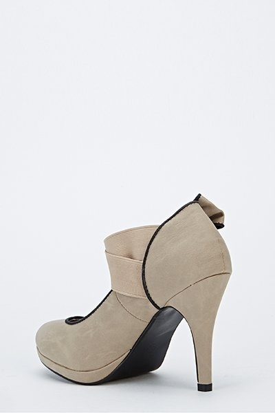 Bow Side Contrast Heels