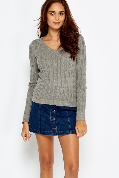 Casual Plait Detail Sweater