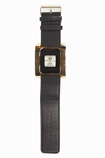 Small Face Thick Strap Watch