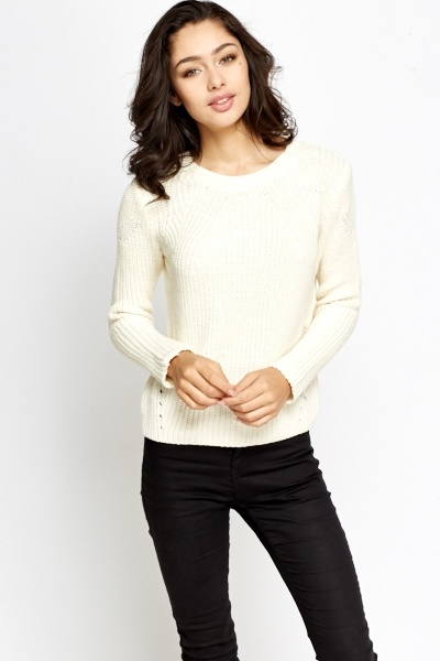 Ribbed Round Neck Jumper