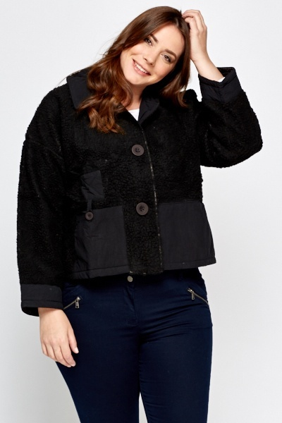 Contrast Cropped Jacket