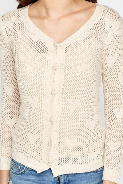 Perforated Heart Knit Jumper
