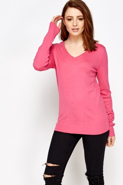 Casual V Neck Jumper