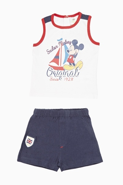 Sailor Mickey Vest And Shorts Set