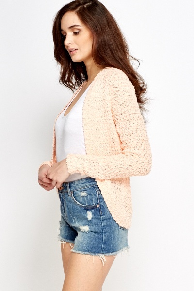 Bobble Knight Open Front Cardigan