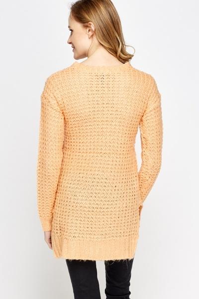 Light Orange Loose Knit Jumper - Just £5