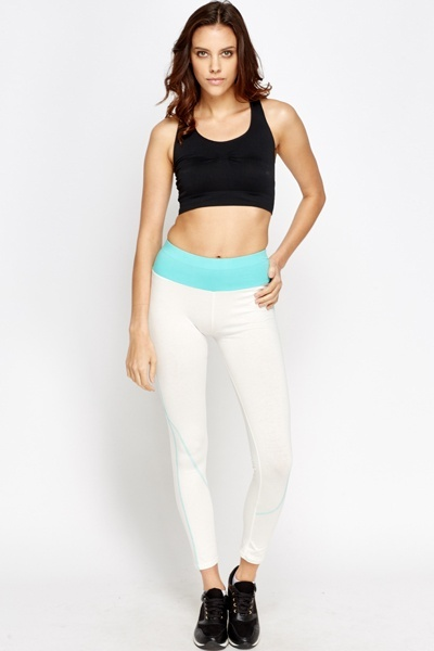 Contrast Trim Speckled Joggers