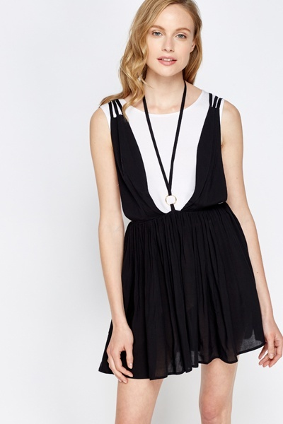 Cut Out Mini Black Dress