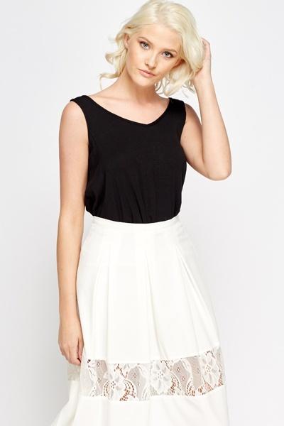 Asymmetric Black Sleeveless Top