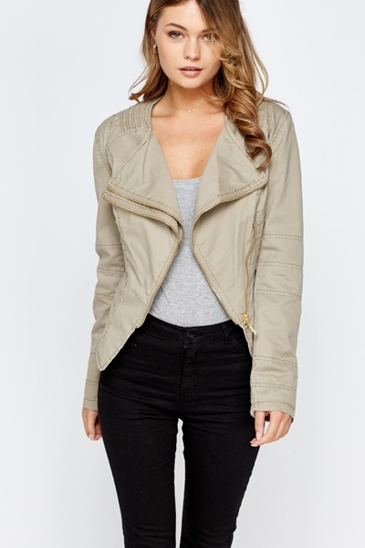Quilted Asymmetric Jacket