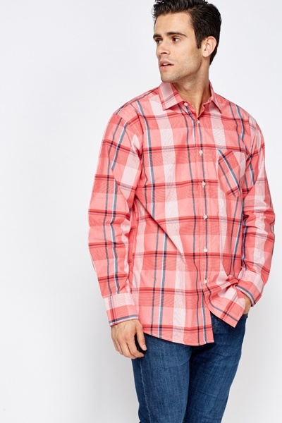 Red Multi Cotton Shirt