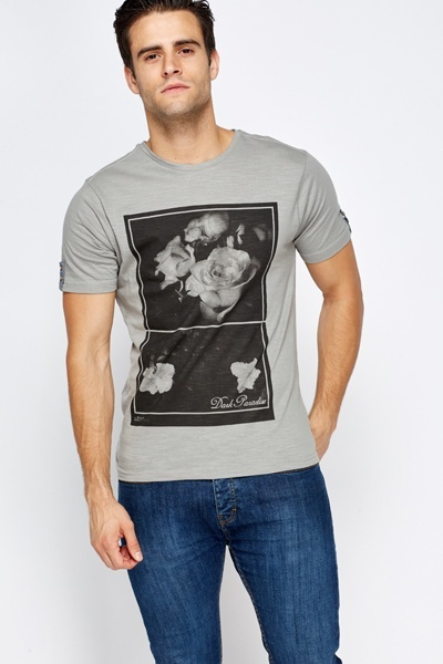 Roses Washed Print T-Shirt