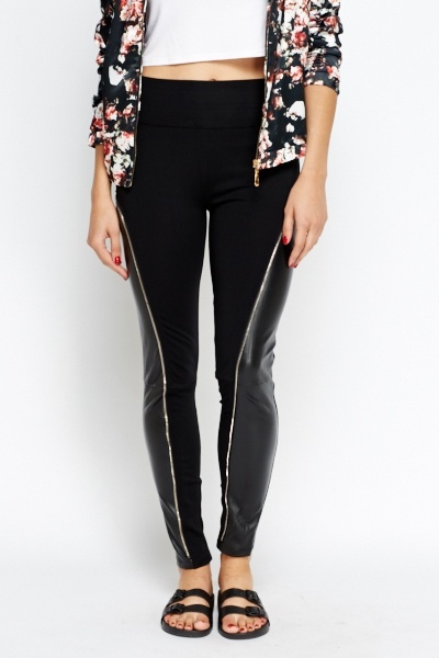 Contrast High Waist Leggings