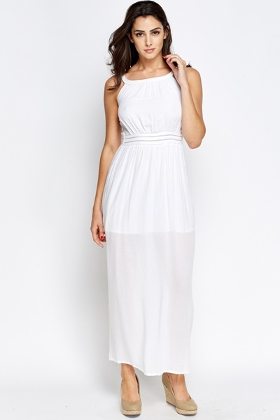 Woven Trim Maxi Dress