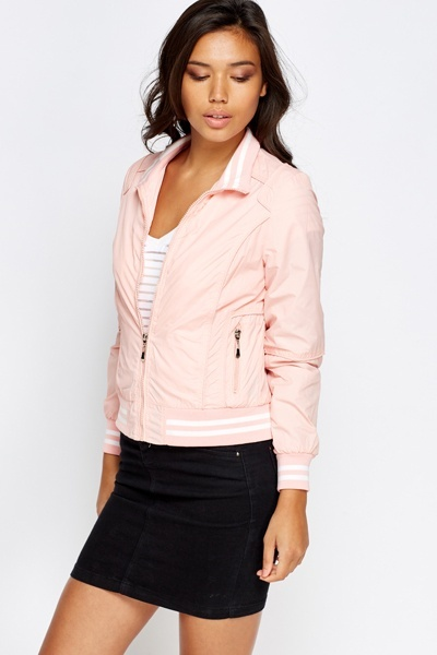 Contrast Stripe Trim Jacket