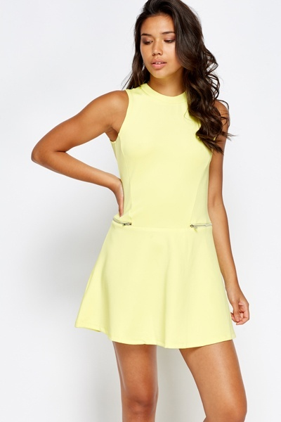 Cut Out Back Swing Mini Dress