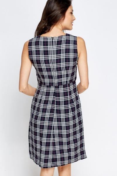 Bow Front Tartan Dress