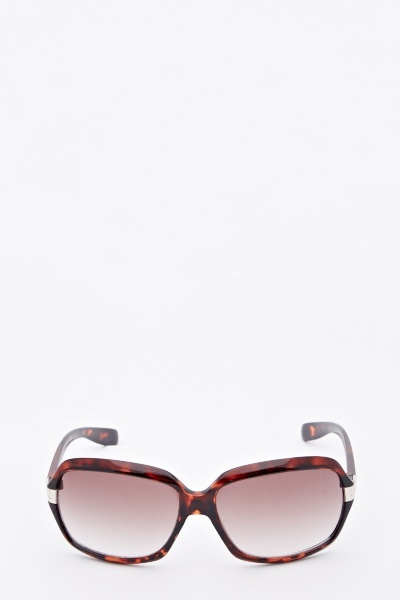 Curved Brown Sunglasses