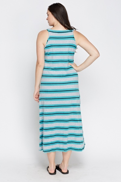 Jersey Striped Maxi Dress
