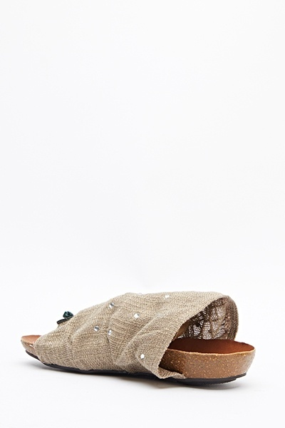 Encrusted Slip On Flats
